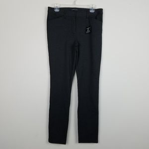 Andrew Marc NWT Ponte Stretch Pant Charcoal A0310